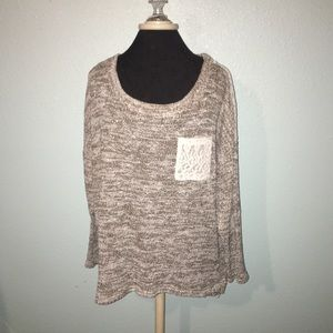 Style & Co. Sweater with Lace Back